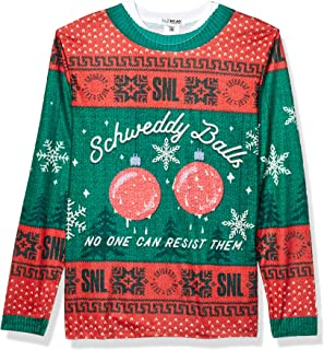 Faux Real Men's 3D Photo-Realistic Licensed Ugly Christmas Sweater Long Sleeve T-Shirt