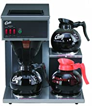 Wilbur Curtis Commercial Pourover Coffee Brewer 64 Oz Coffee Brewer, 3 Station, 2 Lower,..