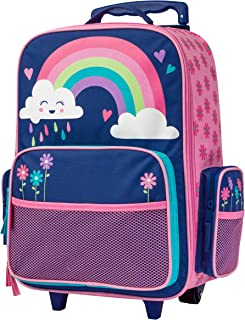 Stephen Joseph Girls' Little Classic Rolling Luggage, Rainbow, No Size