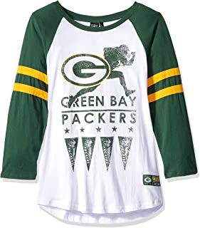 ICER Brands NFL Women's T-Shirt Running Game 3/4 Long Sleeve Tee Shirt, Team Color