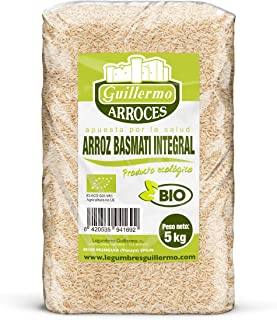Guillermo Arroz Basmati Integral Granel Ecológico BIO 100% Natural 5kg