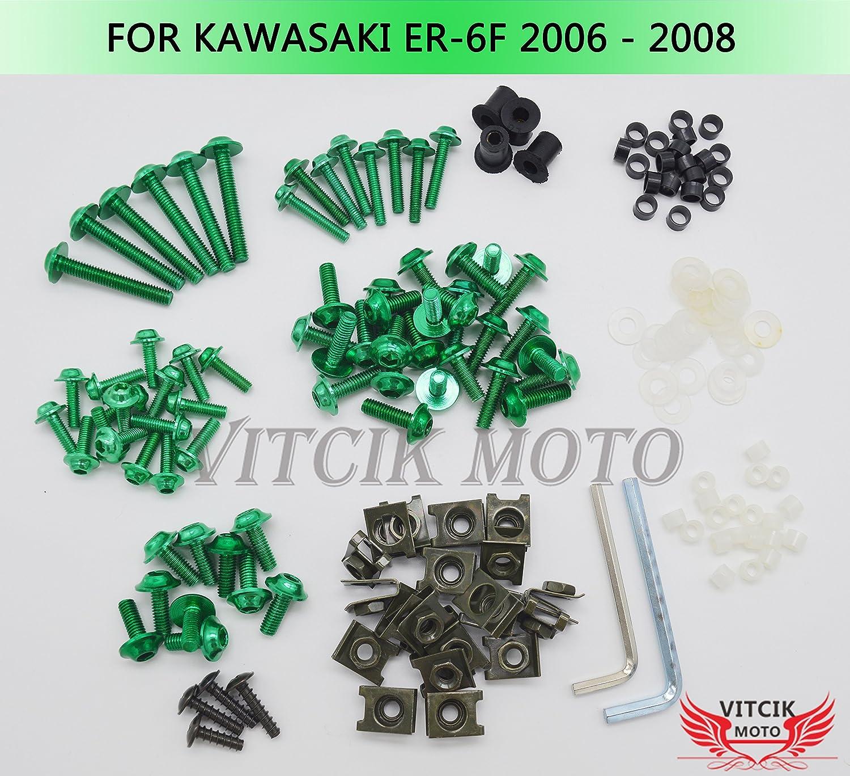 VITCIK Full Fairings Bolt Screw Kits for Ninja ER-6F 2 ER6F 650R 10%OFF 新色追加