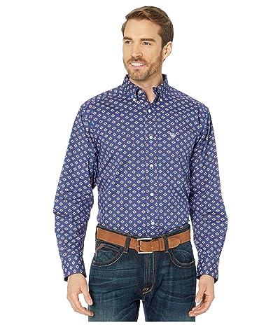 Ariat Glenvar Stretch Print Shirt (Twilight Blue) Men