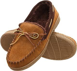 Mens Memory Foam Suede Slip On Indoor Outdoor Moccasin Slipper Shoe