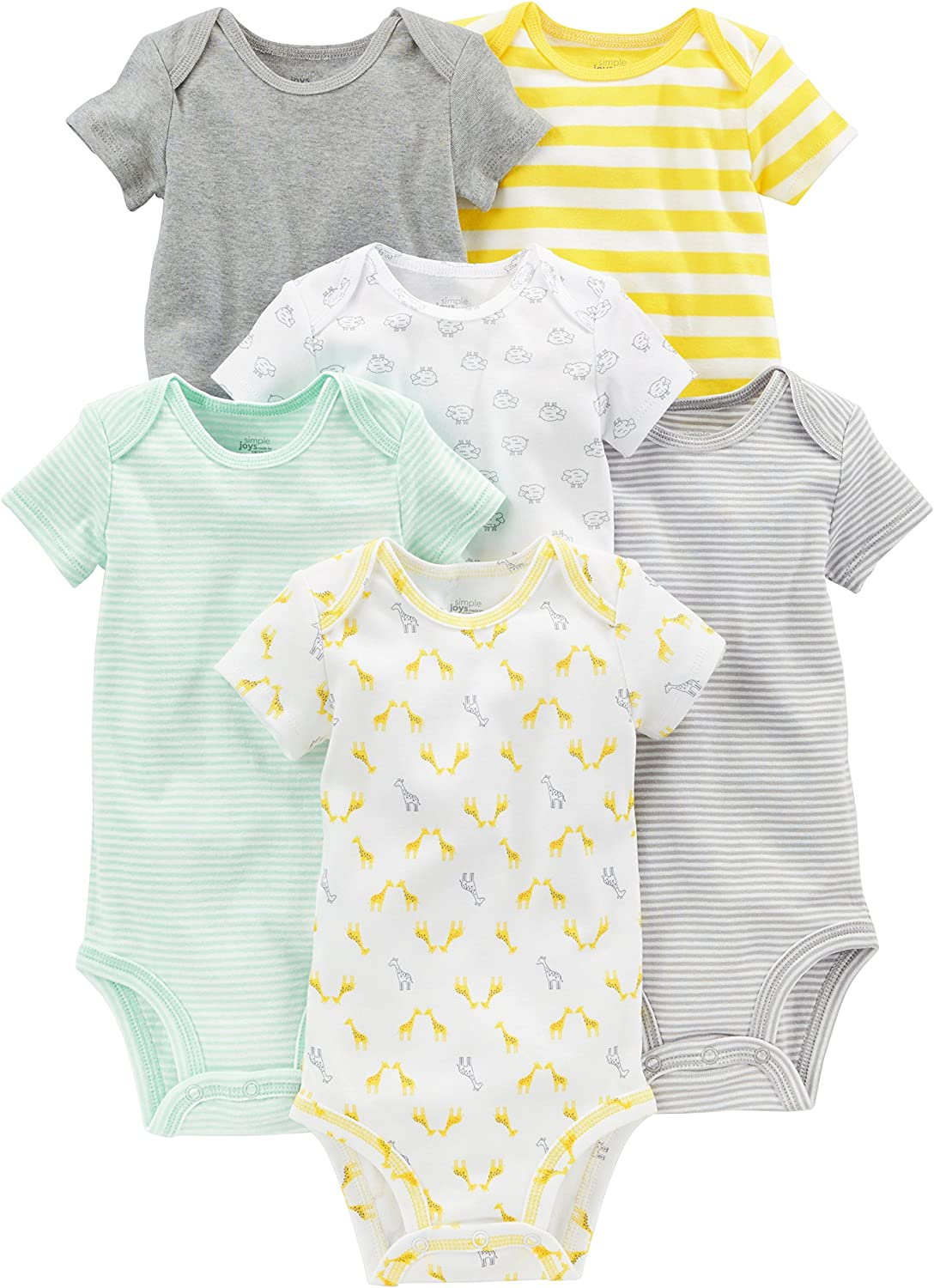 Simple Special price Joys by Carter's Baby 6-Pack Short-Sleeve Neutral Free shipping anywhere in the nation Bodysui