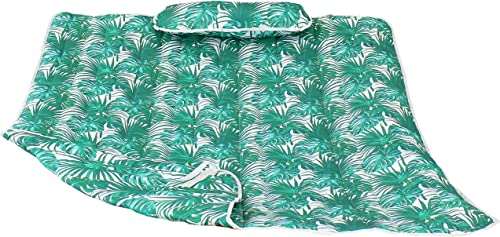 lowest Sunnydaze Cotton Quilted Hammock Pad popular and outlet sale Pillow Set Only - Durable Outdoor Rope Hammock Accessories - Replacement Hammock Pad - Green Palm Leaves outlet sale