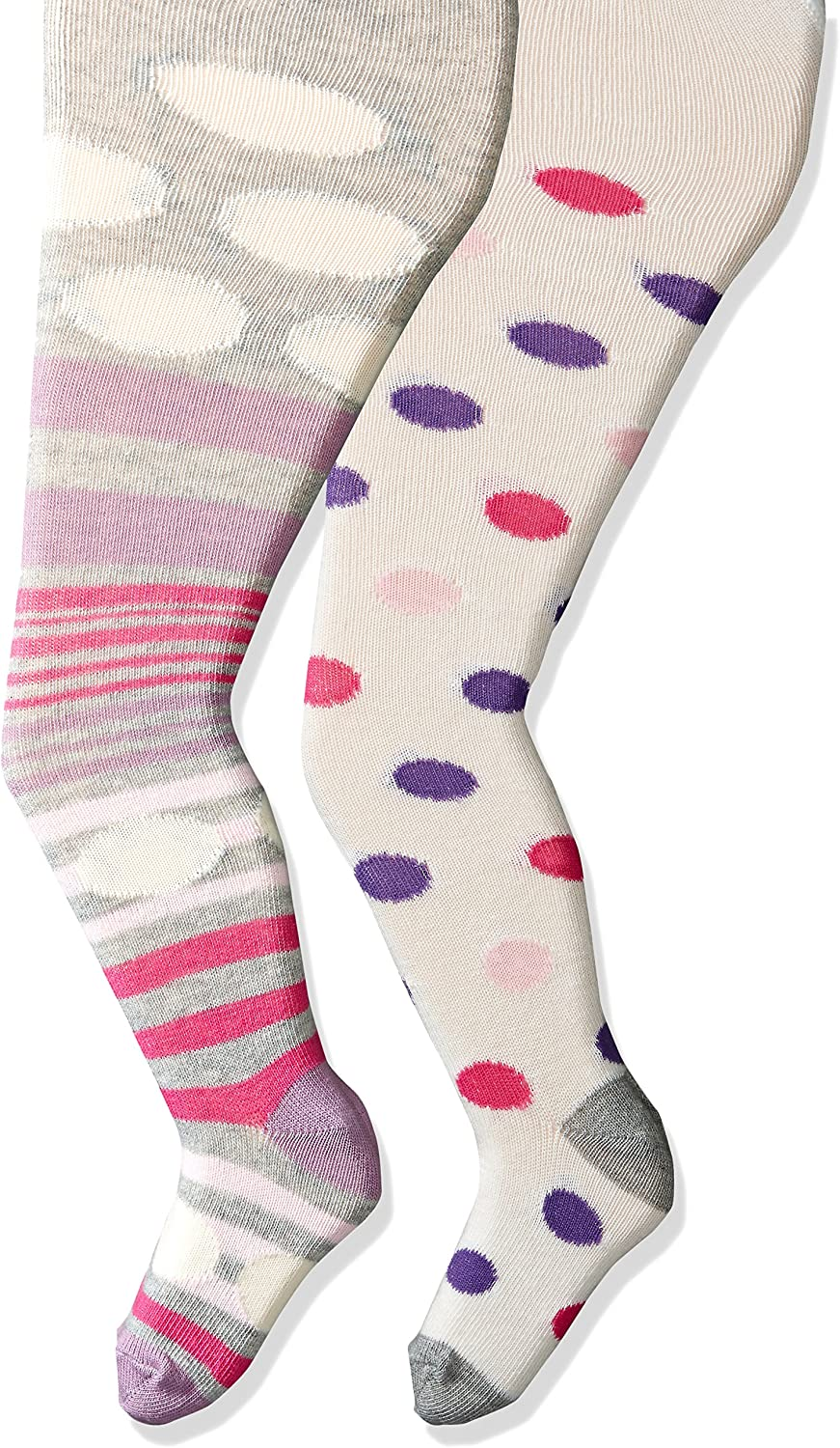 Country Kids Little Girls' Dotty 2 Pack Tights 2 Pair