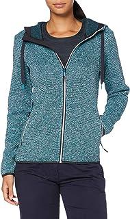 CMP Women's Hooded Fleece Jacket with Knit tech