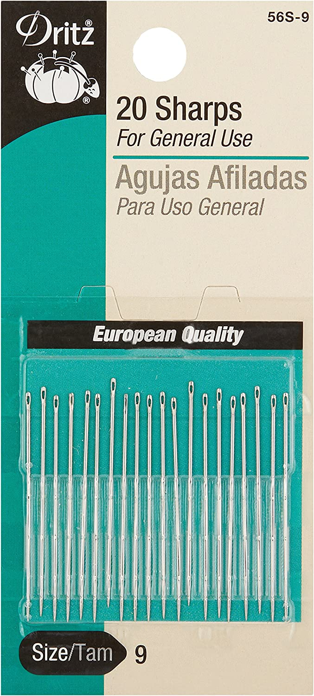 20//Pkg Dritz Sharps Hand Needles Size 8