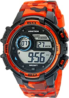 Men's 40/8347COR Digital Chronograph Camouflage Resin Strap Watch