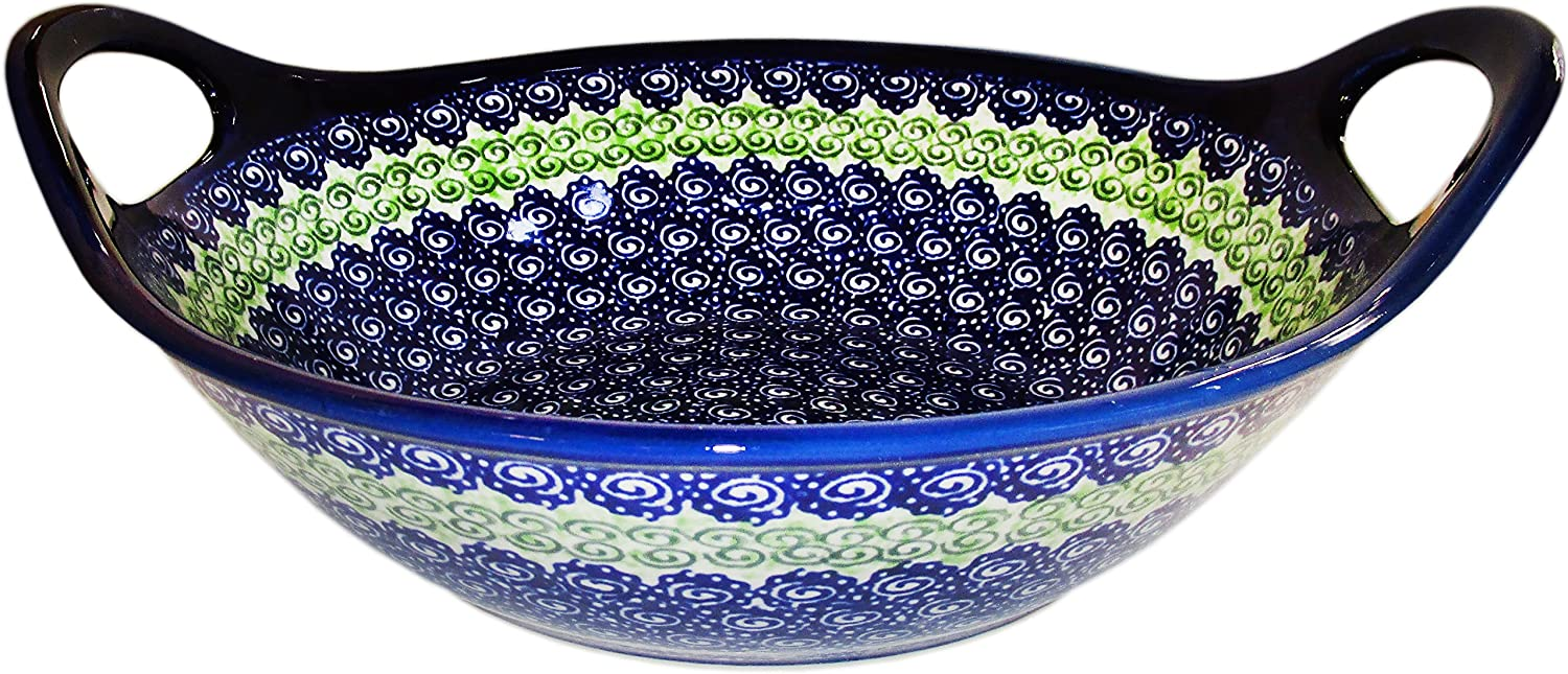 Polish Special price Pottery Serving Bowl online shop Alex - Handles with