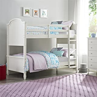 Dorel Living Vivienne Twin over Twin Bunk Bed, White