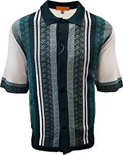 Edition S Men's Short Sleeve Knit Shirt- California Rockabilly Style: Diamond Plate Design- 3008