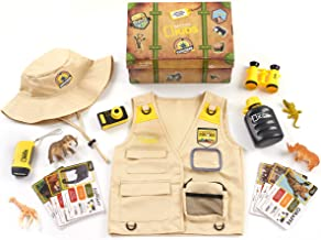 NATIONAL GEOGRAPHIC Kids Safari Time Dress Up Trunk, 17 Pieces, Amazon Exclusive