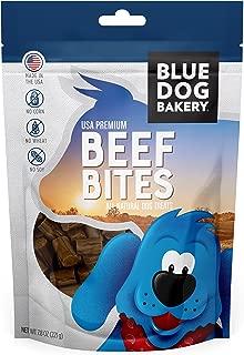 Blue Dog Bakery Natural Dog Treats, 7.8oz Grain Free, USA Premium Beef Bites