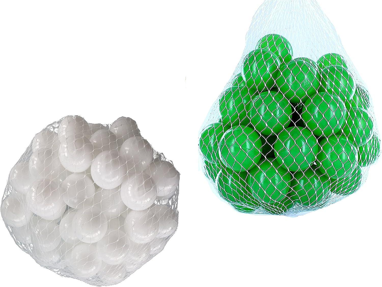 liquidación hasta el 70% Pelotas para pelotas baño variadas Mix Mix Mix con verde y blancoo Talla 1000 Stück  ahorra hasta un 80%