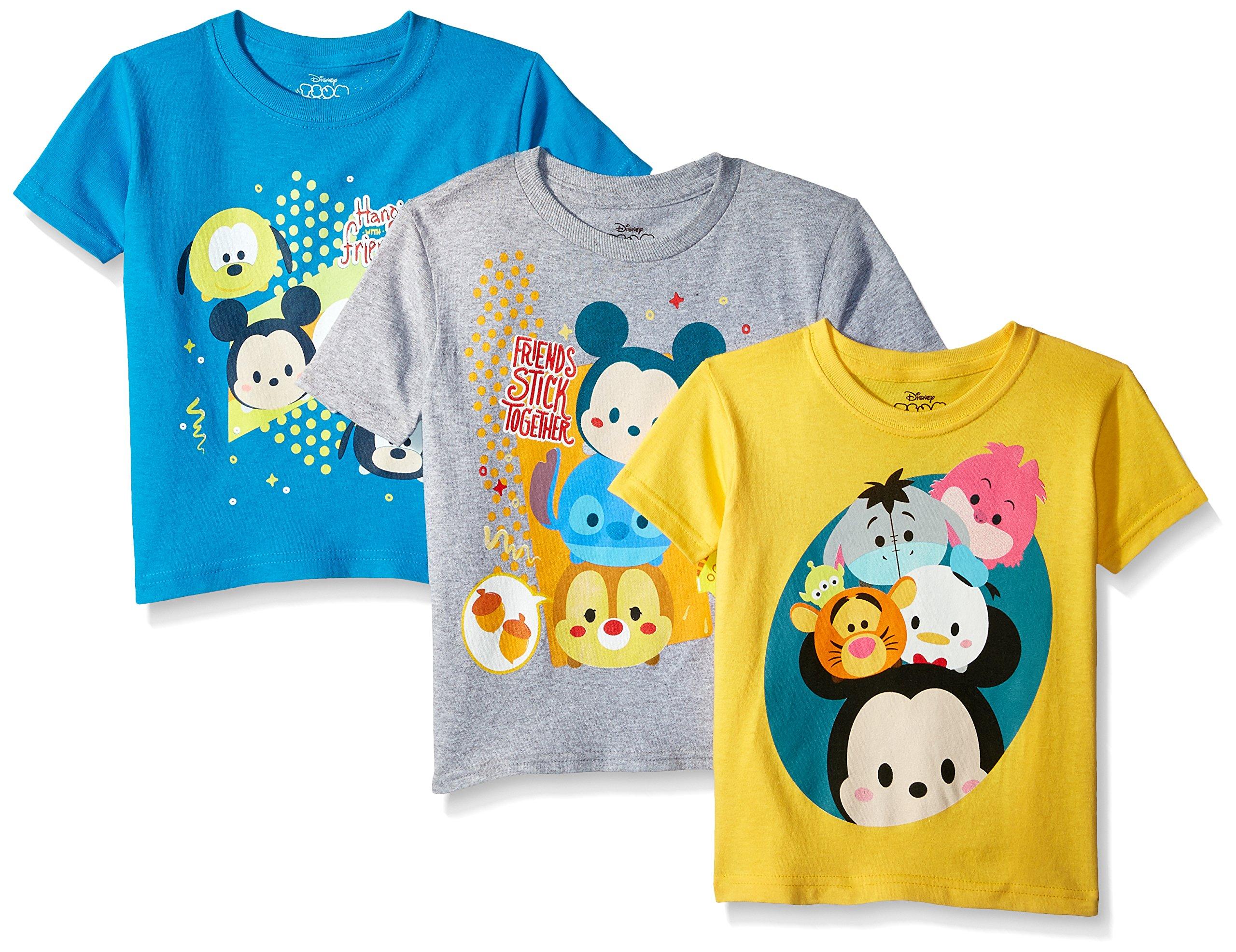 ディズニーボーイズアンドガールズTsum 3 Pack ShortスリーブTシャツ