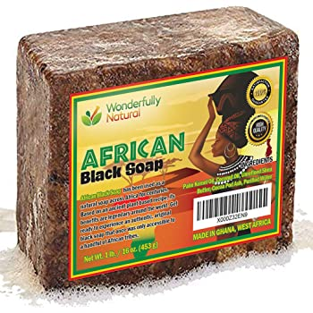 #1 Organic African Black Soap | Acne Treatment | 1lb bar | 60 day Satisfaction Guarantee