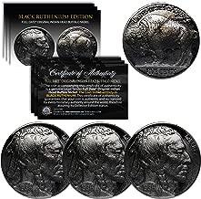 Lot of 3 Various Full Date BUFFALO NICKELS Coins - BLACK RUTHENIUM Indian Head