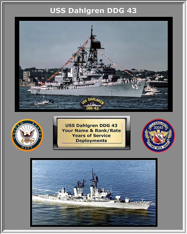 USS Dahlgren DDG OFFer mart 43 Custom Personalized Navy Photo. US