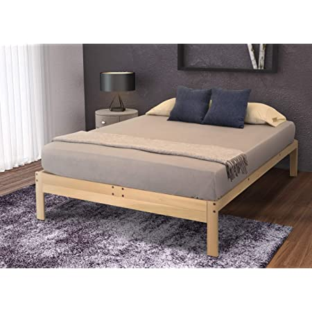 KD Frames Nomad Platform Natural Poplar Bed - Queen