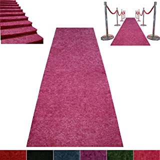 Pink Event Carpet Luxurious Quality Aisle Runner 3ft Wide x 10ft Long