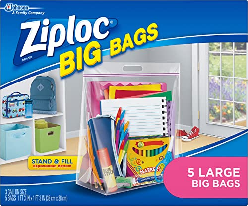 Ziploc Big Bags, Large, 5 Count product image