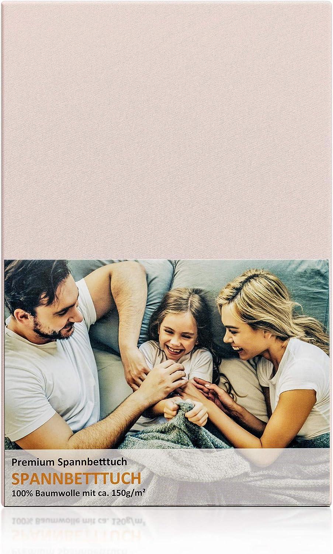 Blossom N8 Premium Spannbettlaken f/ür Babybett und Kinderbett 150 gr//m/² Premiumqualit/ät mit ca passend f/ür Zwei Gr/ö/ßen 60x120 und 70x140 aus 100/% Baumwolle Zertifiziert in Pastell