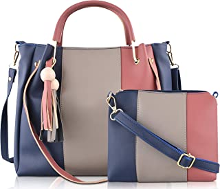 SaleBox® P.U. Leather Handbag/Shoulder Bag leather handbags for girls stylish latest Ideal for Women's & Girls Pack of Tw...