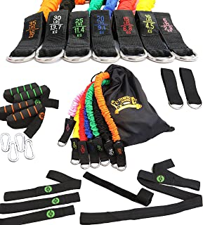 Resistance Bands | Exercise Bands Set - 7 SNAP Proof Covered Fitness Bands with Handles | 23 Pc Workout Equipment Kit
