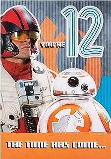Cartons de placement Taille M Hallmark Carte Star Wars Carte danniversaire pour Frère de construire votre propre Tirelire R2D2 Cartes