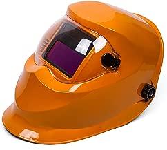 Yellow Adjustable Solar Power Auto Darkening (ADF) Variable Welding Helmet Hood ARC TIG MIG Mask Welding Lenses View size 93 X 43mm(3.66