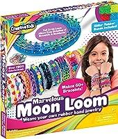 Moon Loom Rubber Band Bracelet Maker Toy for Kids 700 Rubber Bands