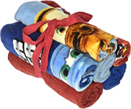 Disney Pixar Cars 2 Blazing Speed 6 Piece 100% Cotton Washcloth Set, Multi