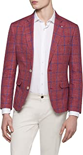 Pierre Cardin Men's Casual Blazer Red Window Chek