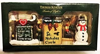 Thomas Kinkade Christmas St. Nicholas Circle Sculpted Magnet Set 1998