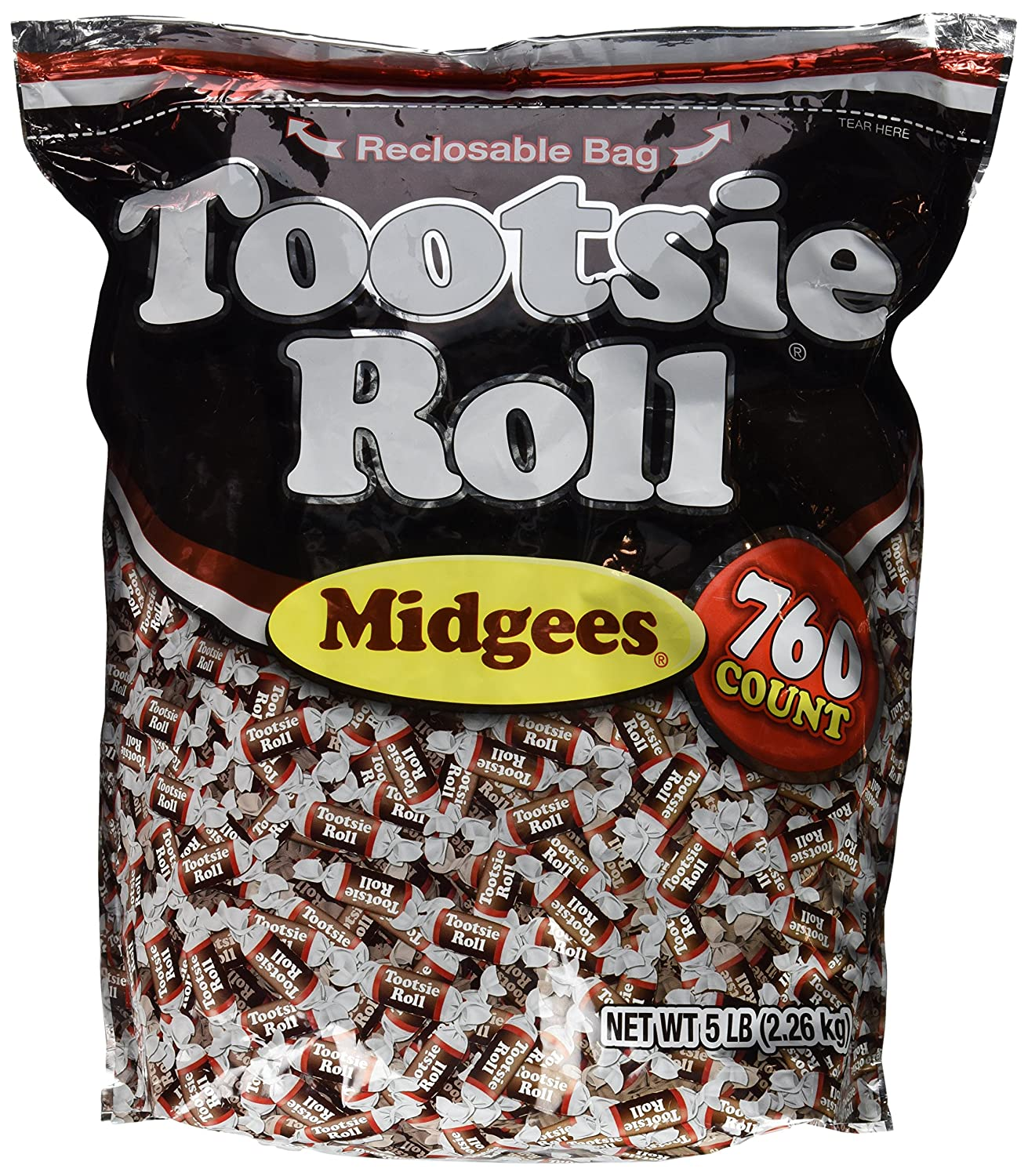 Tootsie Roll Midgees Candy 2021 All items free shipping autumn and winter new 5 Value Pieces 760 Bag Pound