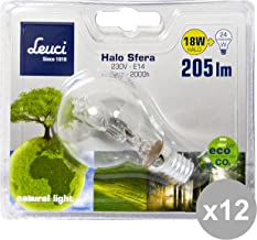 Leuci set 12 kogellamp E14 18W 444059 lamp logo elektrisch, meerkleurig,