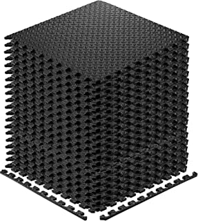 Walsai Exercise Mats Puzzle Foam Mats Gym Flooring Mat Interlocking Foam Mats with EVA Foam Floor Tiles for Home Gym Equipment Workouts