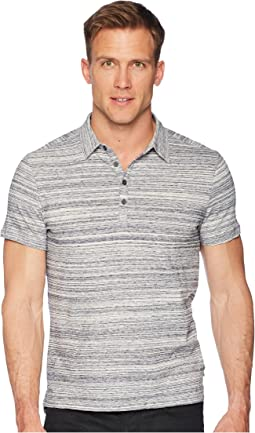 "John Varvatos Star U.S.A. Short Sleeve Polo Shirt Random Stripe ""Siro"" K3655U1B"