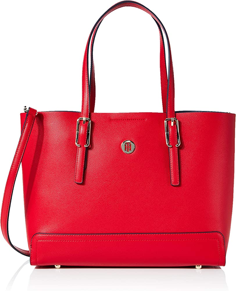 Tommy hilfiger honey med tote, borsa per donna,in pelle sintetica AW0AW07933