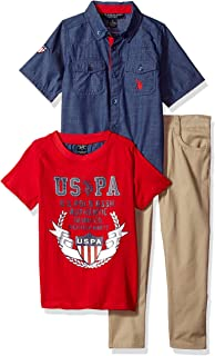 Boys' Little Short Sleeve, T-Shirt and Pant Set