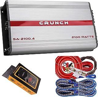 $102 » Crunch SA-2100.4 Smash Series 2,100-Watt 4-Channel Class AB Amp Car Audio Sound System Subwoofer Speaker Amp Amplifier wit...