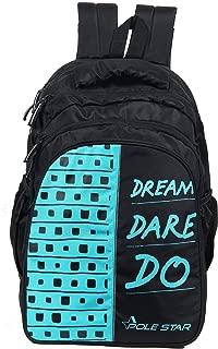 """POLE STAR """"BIG-4"""" 36 Lt Black Backpack I School Bag (T.Blue)"""
