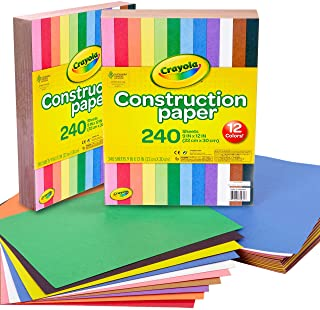 Crayola Construction Paper, 480 Count, 2-Packs of 240 Each, 10 , Great for Arts & Crafts, Home or School Projects