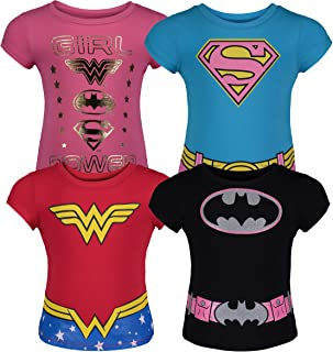 Warner Bros. Toddler Girls' 4pk T-Shirts Batgirl Supergirl Wonder Woman