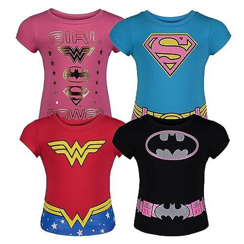 b6c4869c Toddler Girls' 4pk T-Shirts Batgirl Supergirl Wonder Woman