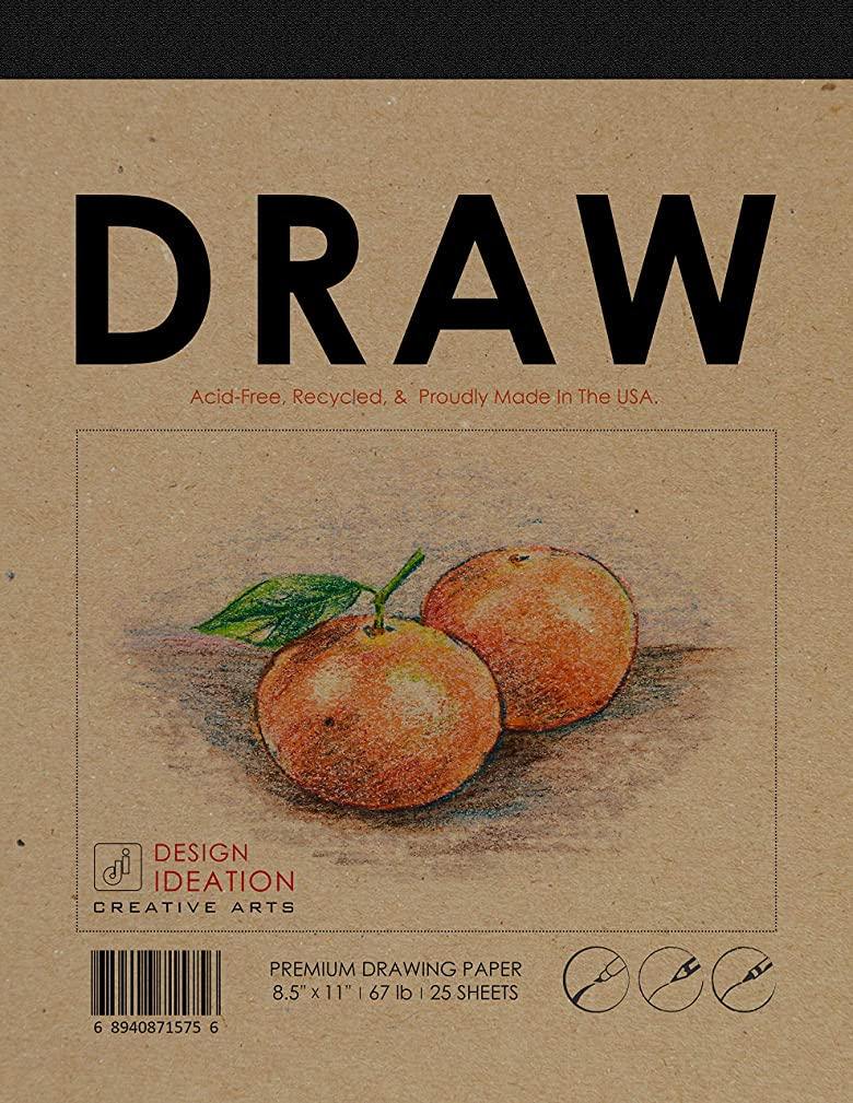 Design Ideation Draw : Premium Paper Drawing Pad for Pencil, Ink, and Marker. Great for Art, Design and Education. (8.5