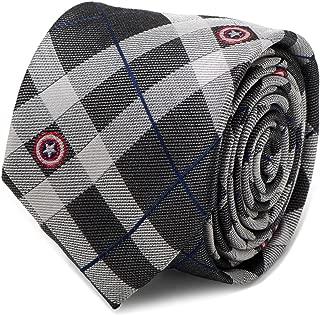 Marvel Captain America Gray Plaid Men's Dress Tie