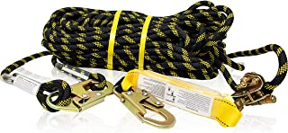 KwikSafety (Charlotte, NC) TSUNAMI (Premium BRAIDED ROPE) Vertical Lifeline Assembly with Rope Grab Snap Hooks Shock Absor...